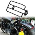 Nova Motocicleta Preta Banhado Bagageiro 883N Solo Assento Se Encaixa Para Harley Davidson Sportster XL 1200 2004-2014