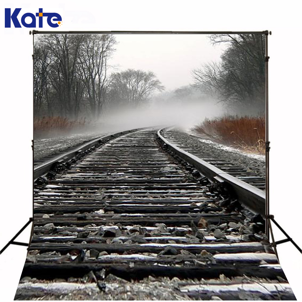 300Cm*200Cm(About 10Ft*6.5Ft)T Background Railway Train Stones Photography Backdropsthick Cloth Photography Backdrop 3091 Lk