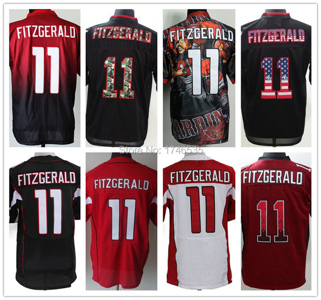 586e96a9f Best Quality Men s Elite American Football Jersey 11 Larry Fitzgerald Jersey  Black Red White Camo Stitched Fanatical Rugby Shirt