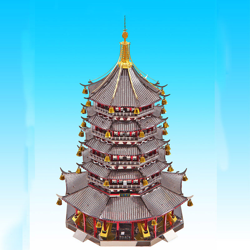 3D Metal Puzzles Model Colorful Leifeng Pagoda Building Children Manually Jigsaw Desktop Display Educational Toys Holiday Gifts3D Metal Puzzles Model Colorful Leifeng Pagoda Building Children Manually Jigsaw Desktop Display Educational Toys Holiday Gifts