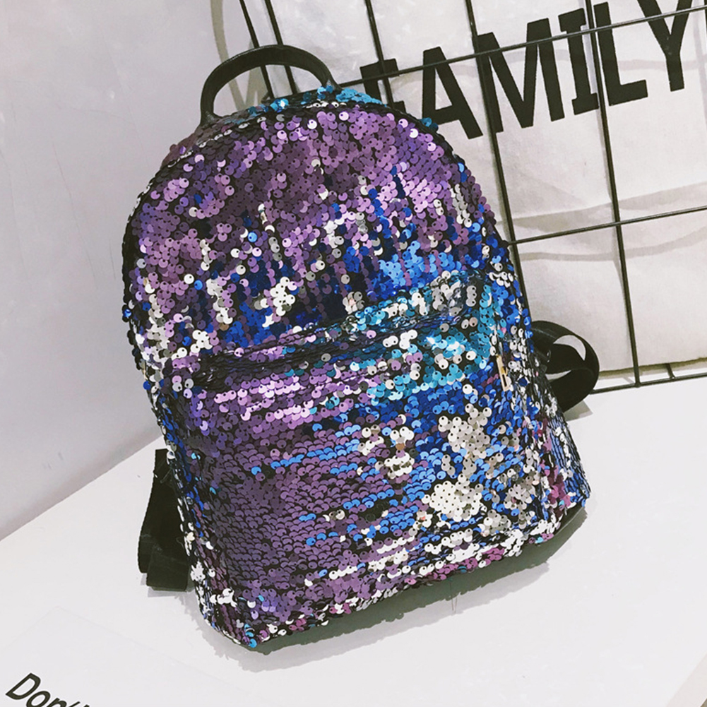 Woman Girls Casual Shoulder Bag Bling Fabala Rucksack Personality Travel Sequins Glitter Large CapacityWoman Girls Casual Shoulder Bag Bling Fabala Rucksack Personality Travel Sequins Glitter Large Capacity