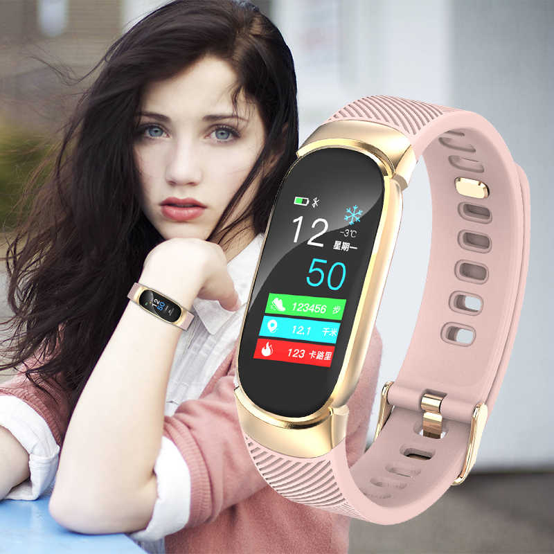 LIGE Smart Bracelet Women IP67 Waterproof Watch Heart Rate Monitor Information Call Reminder Smart Fitness Wristband sportwatch