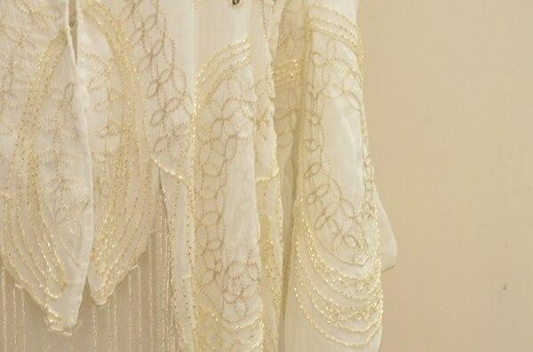 !! 2015 חרוזים נצנצים רקמה מצויץ ' קט קרדיגן שיפון חולצה חולצה ילדה