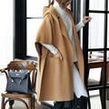 BringBring 2017 Spring and Autumn Plus Size Trench Hooded Cardigan Jacket Women 1731