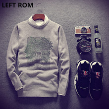 LEFT ROM Men in winter to keep warm luxury brand knitting a sweater/Male round collar Set head leisure sweater/kint shirts S-XXL