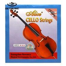 Алиса A803 Виолончель струны стальной сердечник Никель Серебряная рана 1st-4th струны