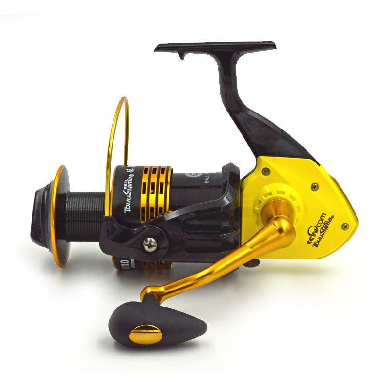 ФОТО 10BB 5.7:1 8000-9000 Series Saltwater Spinning Fishing Reel Distant Wheel Metal Spool Carp Fishing Reels Wheel Tackles
