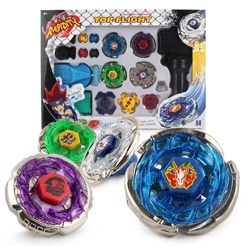 4pcs/Set Beyblade Burst spinning top With Launcher and Arena Metal Fight Battle Fusion Bayblade Classic Toys Spinning Tops топор fusion battle ax sog