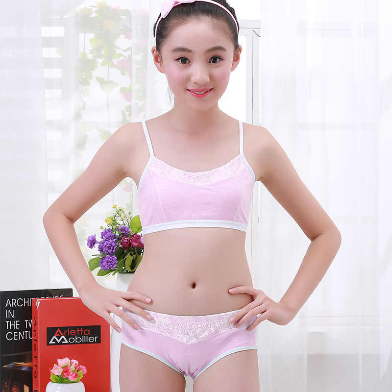 ... Teenage Girls Clothing Underwear Bra   Brief Sets Young Girls Lingerie    Panties Undies Suit Puberty ... 1e015d9c8