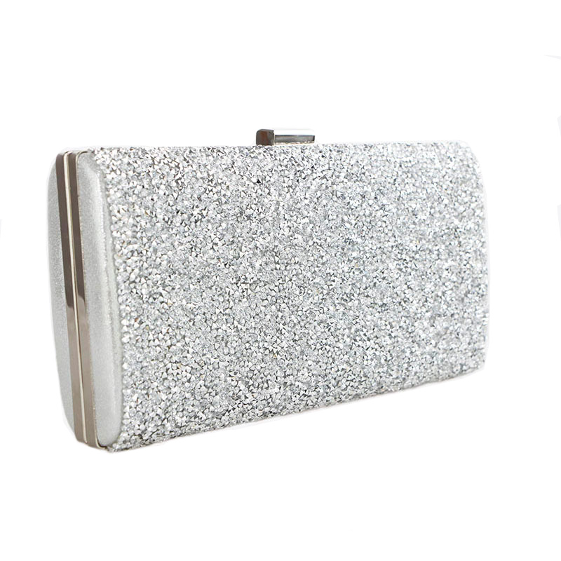 2016 gold clutch bags Woman Evening bag Diamond Rhinestone Clutches Crystal Wallet Wedding Purse Party Banquet Black/Gold/Silver