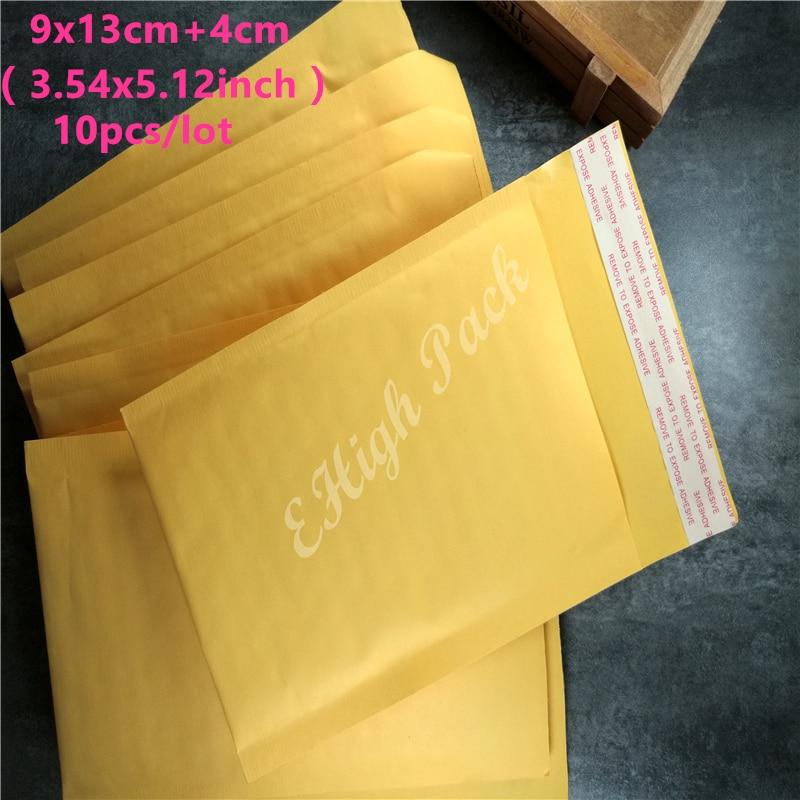 9*13cm 10Pcs/Lot Yellow Kraft Bubble Envelope Poly Mailer Padded Envelopes Mailing Bags Bulle Gift Bag