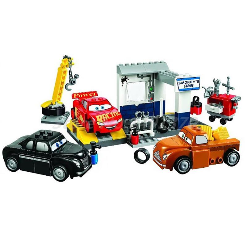BELA 10686 Building Blocks Cars Juniors Smokey's Garage Figure 126Pcs Bricks Toys For Children Gift Compatible with 10743 lepin 22001 imperial flagship building bricks blocks toys for children boys game model car gift compatible with bela decool10210