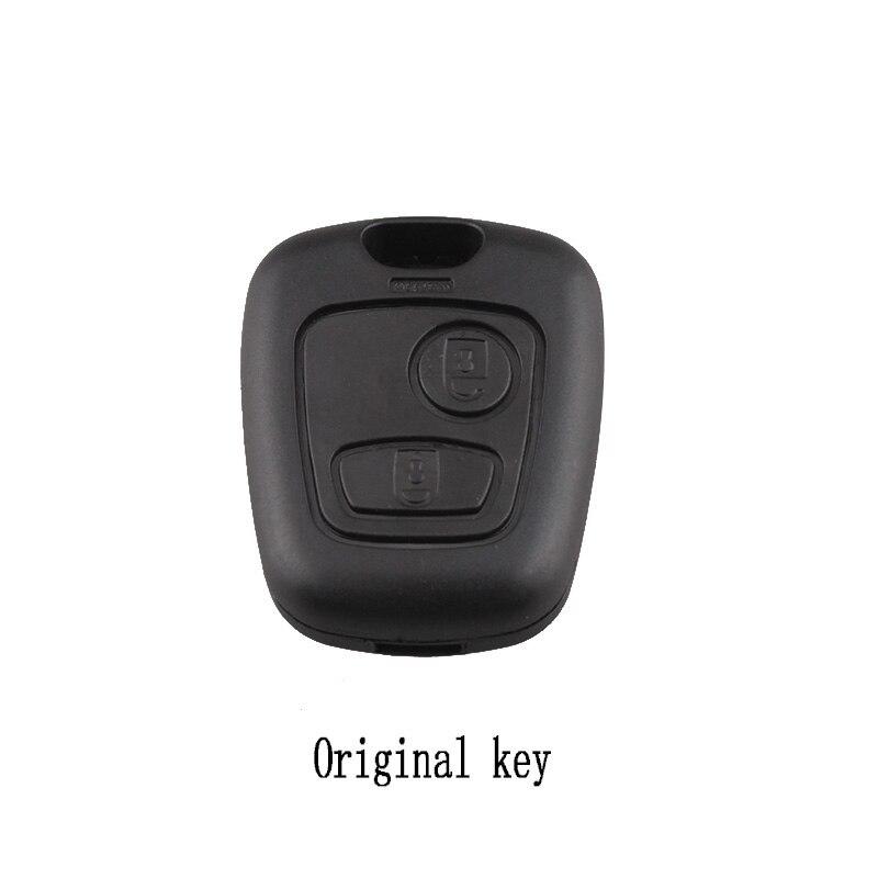 2 Knoppen Afstandsbediening Sleutel Case Voor Citroen C1 C4 Voor Peugeot 107 207 307 407 206 306 406 Originele Sleutels Zonder Blade Voor Snelle Verzending
