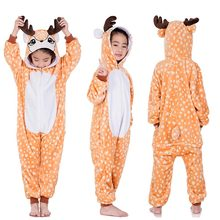 2c663cd7e Año Nuevo niños Unisex mono Animal traje de las niñas kigurumi León mono con  capucha pijamas