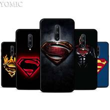 Marvel superman Logo Silicone Case for Oneplus 7 7Pro 5T 6 6T Black Soft Case for Oneplus 7 7 Pro TPU Phone Cover