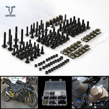 CNC Universalรถจักรยานยนต์Fairing/กระจกสกรูชุดสำหรับHonda SpiritสีดำNc750s Nc750x Vfr1200 Cb1100/GIOพิเศษ