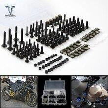 CNC uniwersalny motocykl Fairing/szyby śruby zestaw śrub dla Honda czarny duch nc750s nc750x vfr1200 cb1100/GIO specjalne