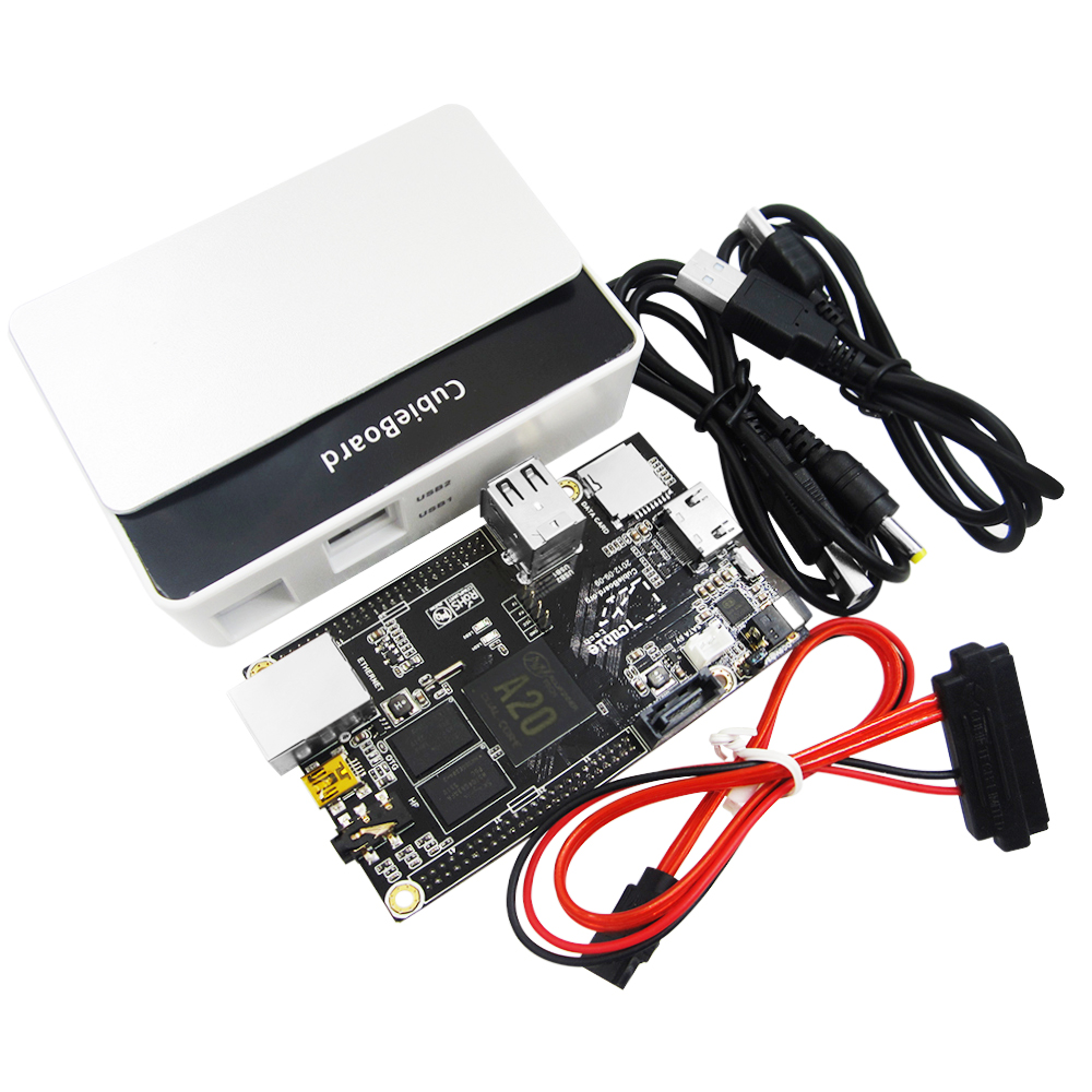 A10 Raspberry Pi Enhance Version Mini PC Cubieboard 1GB ARM Development Board Cortex-A8 Kit cubieboard a8 1gb arm cortex a8 development board w sata usb to tll serial cable white
