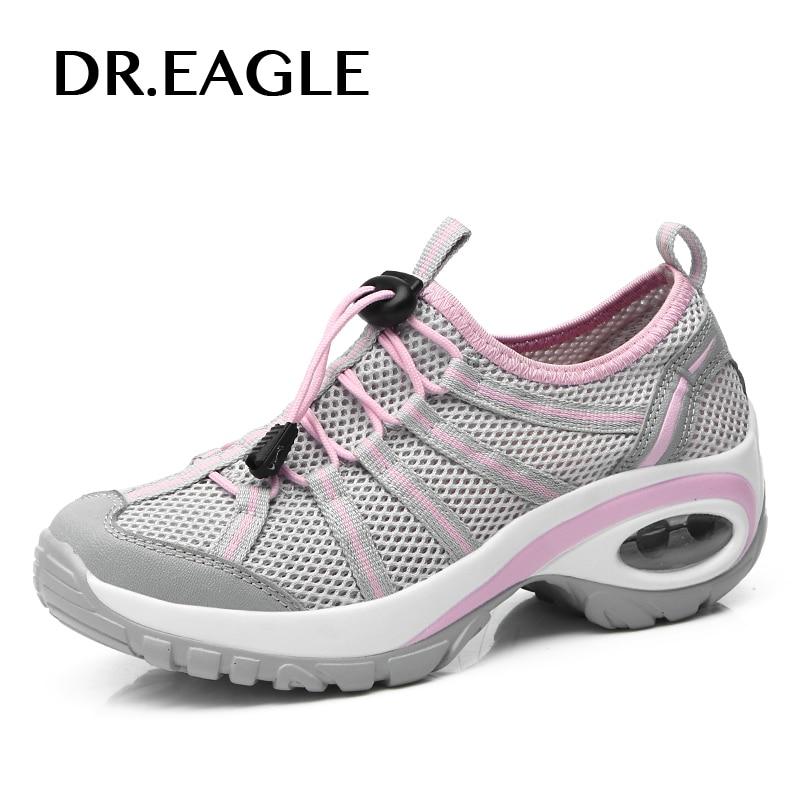 DR. AIGLE femmes en plein air anti-slip chaussures de randonnée sneaker Hauteur Croissante coussin maille pieds nus sport chaussures femmes sneakers