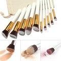 10 Pcs Professional Makeup Brushes Set with bag Make up Brush Kit Powder Foundation Nylon Hair brush Cosmetic Beauty 07-0050