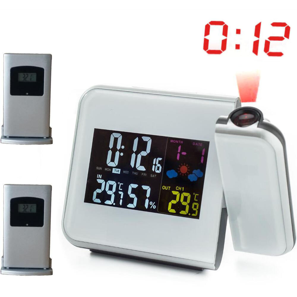 Projection Alarm Clock with Digital Laser Time Projector