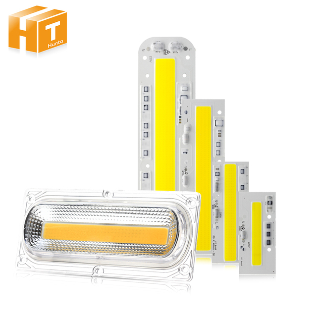 LED COB Chip Lamp AC 220V 30W 50W 100W 150W Smart IC / LED Lens For DIY LED Floodlight COB Lamps
