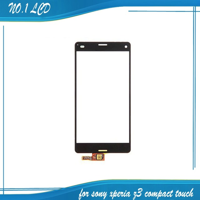 Оригинал Сенсорная Панель Для Sony Xperia Z3 Compact Z3 Mini D5803 Передняя Сенсорный Стеклянный Объектив С Датчиком Экран Digitizer Замена