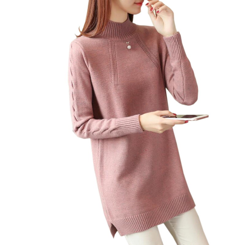 Knitted Sweater Autumn Winter Shirt Pullover Women Long-Sleeve Fashion Turtleneck Tops