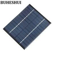Buheshui البسيطة الخلايا الشمسية 2 واط 12 فولت الشمسية شاحن بطارية diy أدى ضوء لوحة ل 9 فولت الكريستالات 2 قطع 110*136 ملليمتر مجانية