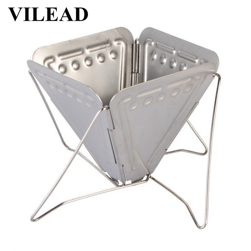 VILEAD Coffee Maker Rack Filter Holder Stainless Steel Camping Portable Funnel Folding Outdoor Cookware Picnic Coffee Maker-in Outdoor Tablewares from Sports & Entertainment