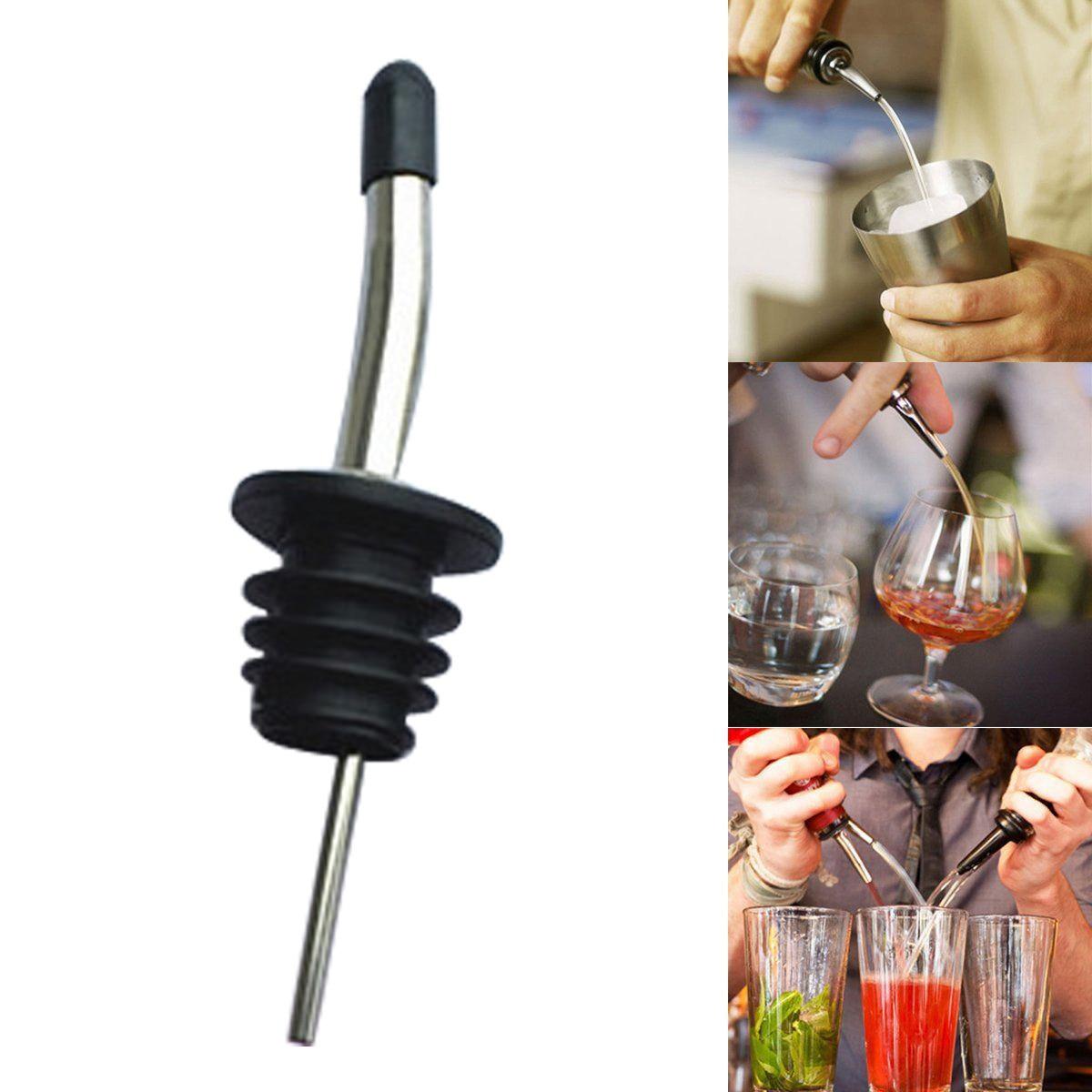 2018 Stainless Steel Pourer Liquor Spirit Pourer Flow Wine Bottle Pour Spout Stopper Cap Suitable For Standard Wine Bottle Necks