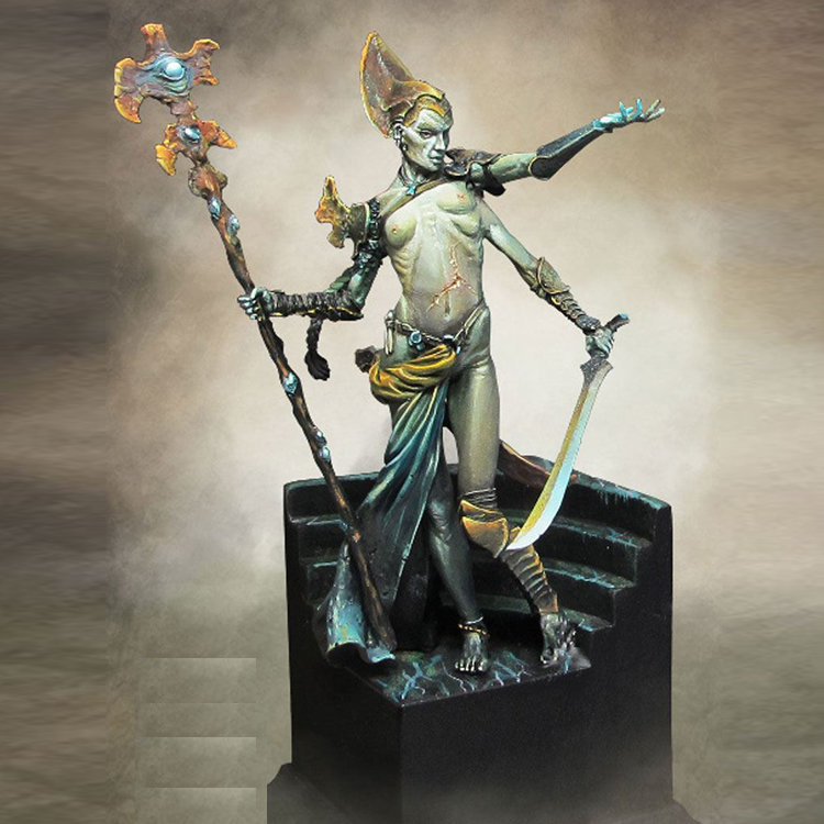 Resin figures model kit Ebylzadeath Necromancer Unpainted and unassembled Free shipping R115G 1 10 bust resin model kit young soldier 1944 figures model unpainted and unassembled free shipping 92dd