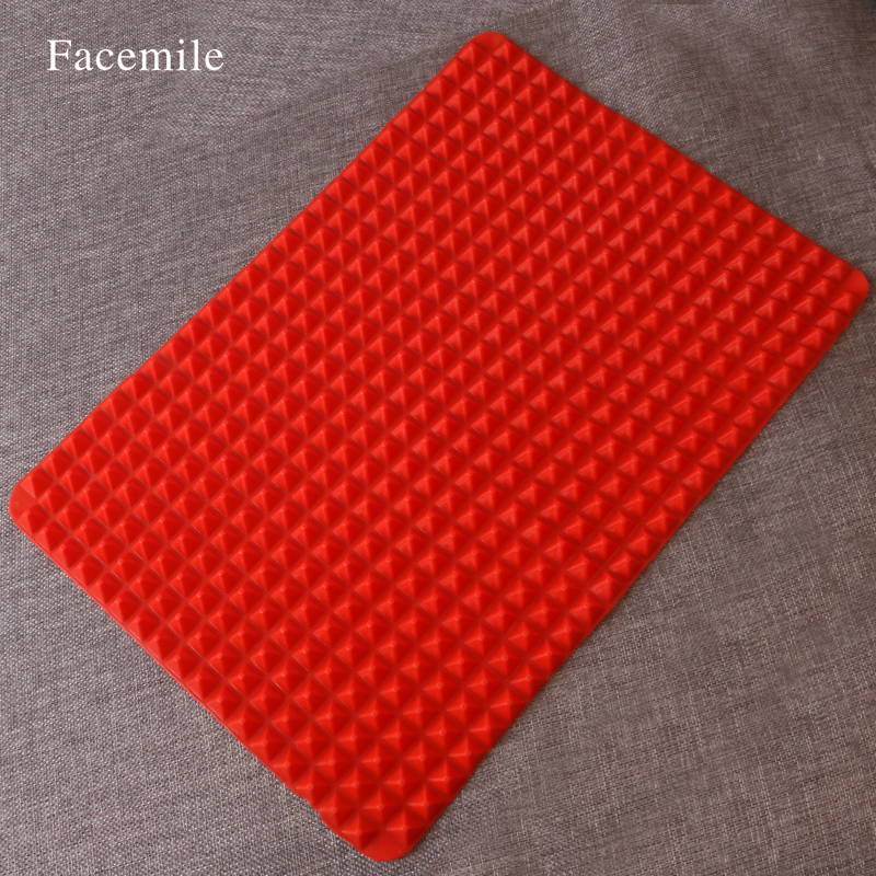 Facemile store 2016 Hot Sale Pyramid Bakeware Pan Nonstick Silicone Baking Mat Pads Easy Method for Oven Baking Tray Sheet Kitchen Tools 52037