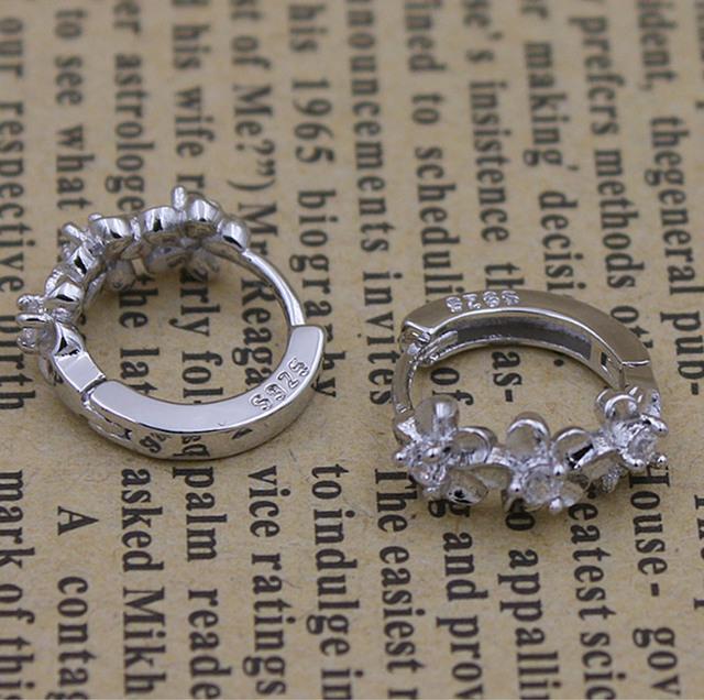 Silver Plated Flower Earrings