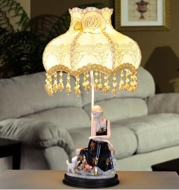 Europeo pastorale ceramica lampada decorativa. lampada da comodino ...