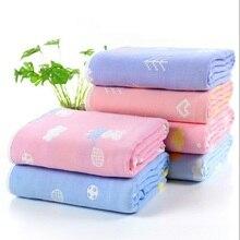 Newborn Thick 6 Layers Muslin Cotton Blanket Swaddleing Children Bedding Soft Quilt Boy Girl Organic Blankets 120*150cm