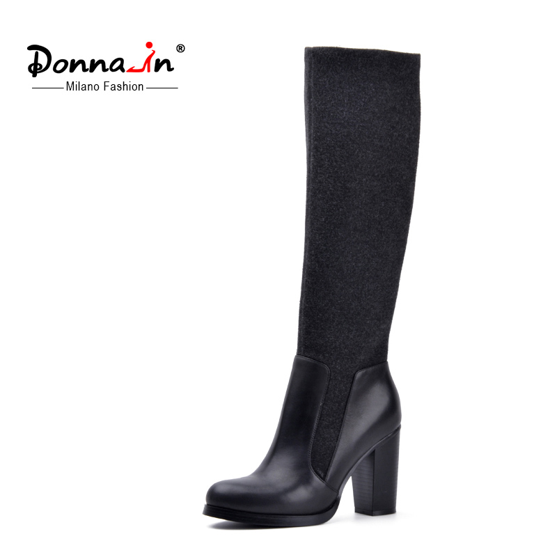 donna in 2017 fashion style the knee high boots