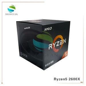Image 2 - New Box CPU AMD Ryzen5 2600X R5 2600X 3.6 GHz Six Core Twelve Thread 95W CPU Processor YD260XBCM6IAF Socket AM4 With cooler fan