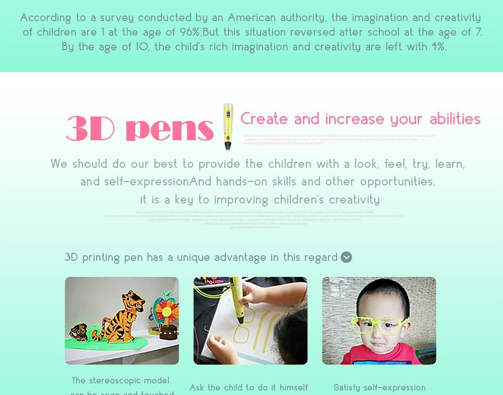 3d desenho caneta com 3 cores total