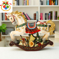 Christmas Decorations Resin Pony European Style Arts and Crafts Originality Home toys Christmas Gifts for Friends Or Collection