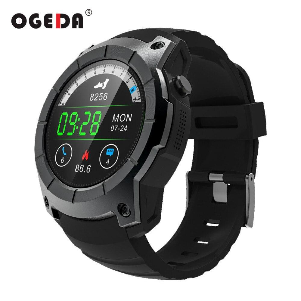OGEDA Для мужчин gps Смарт часы 2018 Спорт Heart Rate барометр монитор Smartwatch многофункциональная спортивная модель Смарт часы для Android IOS S958 ...