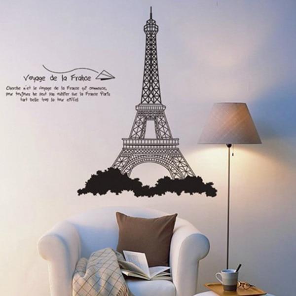 New Fashion EIFFEL TOWER Wall Sticker PARIS Decor Art Vinyl Decor DIY Wall  Murals Kid Eiffel Tower Wall Sticker Free Shipping In Wall Stickers From  Home ...