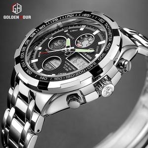 Image 1 - Reloj Hombre GOLDENHOUR Fashion Pop Men Watch montre homme Alarm Sport Highly Praised Man Wrist Watch 2019 Relogio Masculino