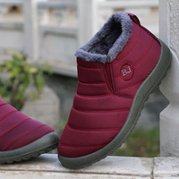 XQ 2017 New Couple Winter Warm Flat Ankle Snow Boots For Women Waterproof Cotton Women S