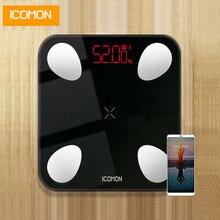 ICOMON USB 25 body data smart badkamer weegschalen floor menselijk wegen mi schaal lichaamsvet b mi weegschaal bluetooth balance 180 kg