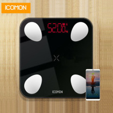 iCOMON USB 25 body data smart bathroom scales floor human weighing mi scale fat bmi weight bluetooth balance 180kg