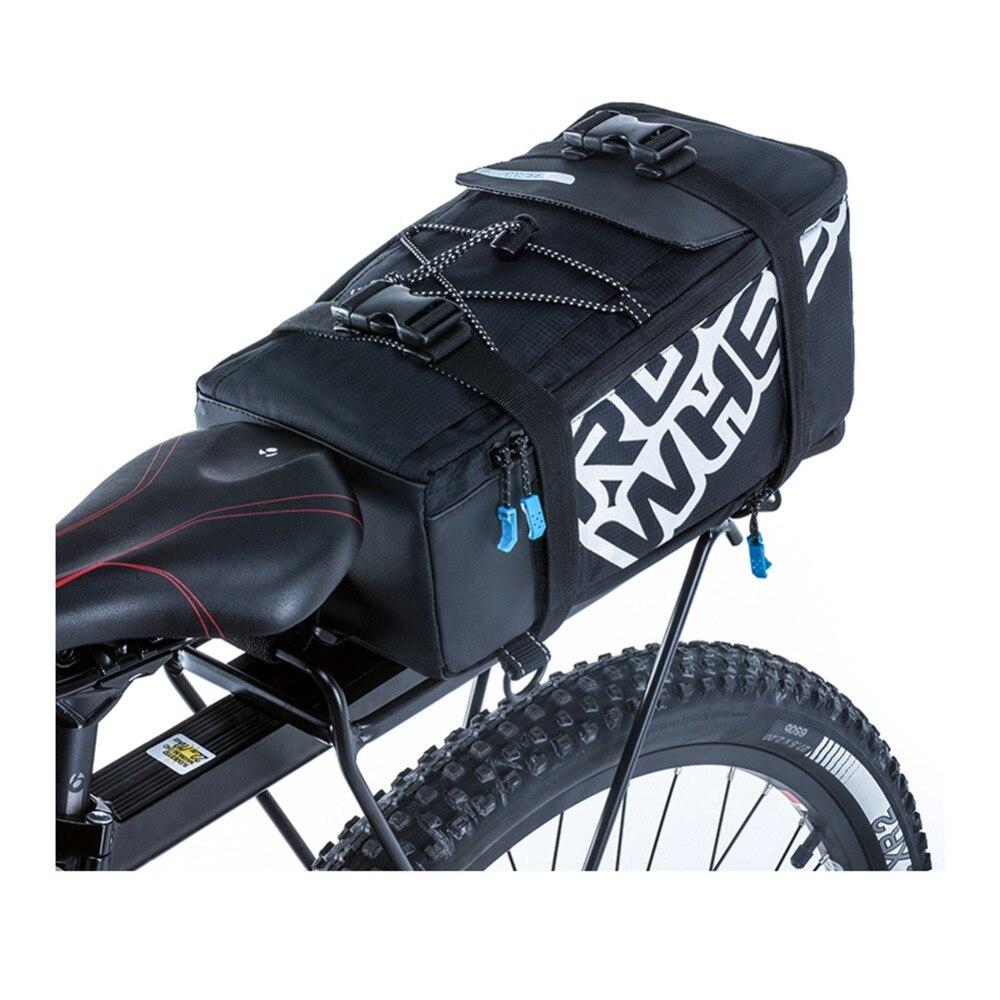 ROSWHEEL Mtb Bicicleta Rack de Bicicleta Trunk Bag Equitação Ciclismo Mountain Road Bicicleta Da Bicicleta Suporte Traseiro Do Assento Pannier Traseira Levando Sacos de Mão