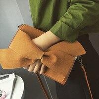 The New Han Edition 2017 Wrist Hand Bag Qiu Dong Grind Arenaceous Bag Bowknot Joker Fashion