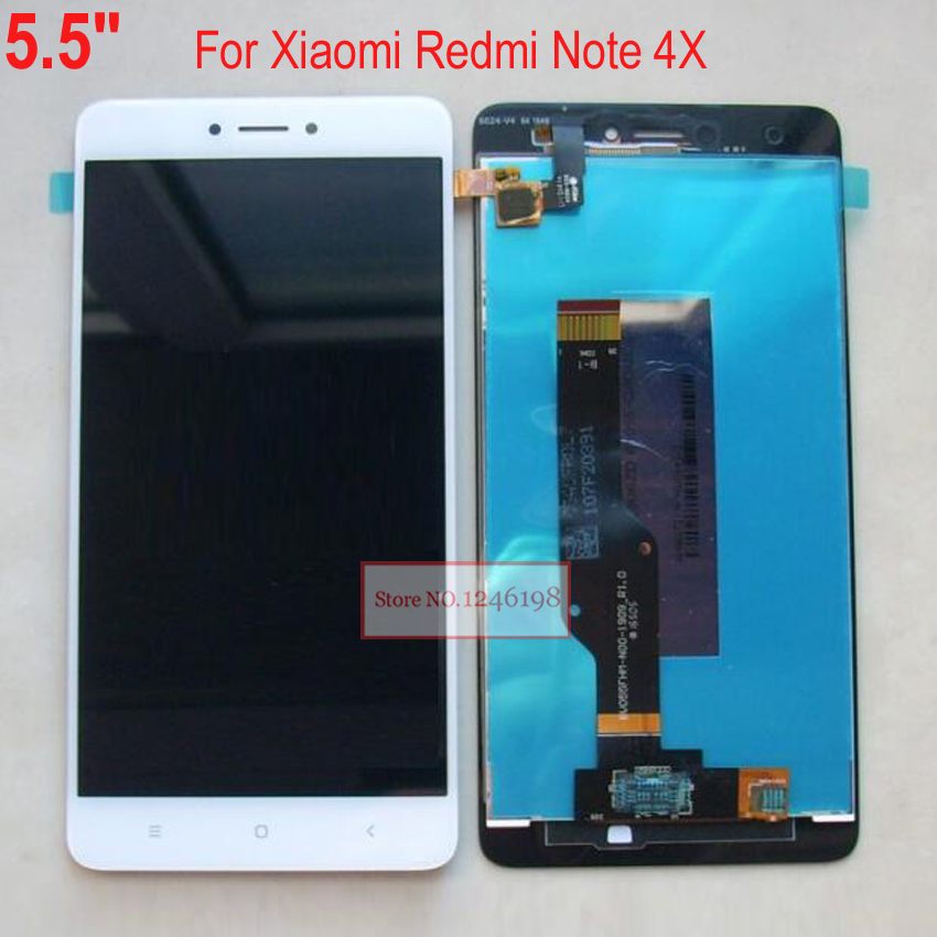 ФОТО Black/White NEW Full LCD Display Touch Screen Digitizer Glass Panel Assembly for Xiaomi Redmi Note 4X phone Replacement Parts