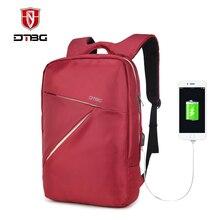 Dtbg 15.6 дюймов красный laterproof рюкзак для ноутбука Женская мода рюкзак бизнес отдых рюкзак для женщин школьный для подростка